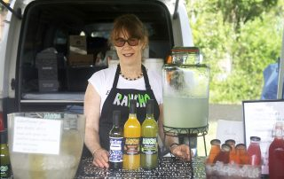 Jane Boniface of Rancho Limes with her assortment of refreshing summer drinks